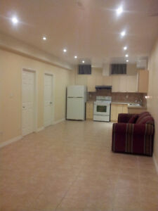 2 bedrooms basement apartment for rent in Mississauga.