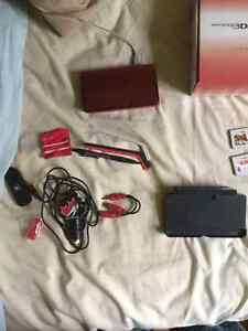 3DS with games and accessories