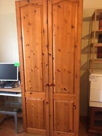 Large pine wardrobe for sale