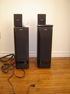 Sony Active Surround Sound powered speakers - 4 plus remote London Ontario image 1