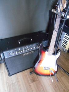 AMPLI 120 W. et Guitare Électrique