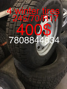 USED 4 winter tire 95% 245/70/17 7808844834
