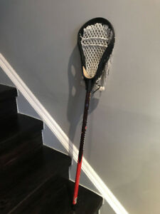 "Brine 38.5"" Aluminum Red Black Lacrosse Stick Vintage M1 Head"