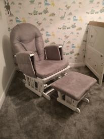 Reclining and rocking nursing chair