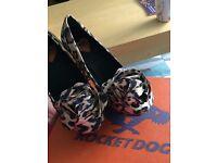 Size 5 Rocketdog leopard print shoes