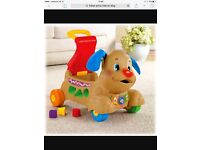 Fisher price ride on dog and vtech piano