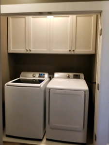 Samsung Washer/Dryer and Upper Cabinets