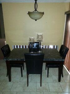 Black Marble Table Windsor Region Ontario image 2