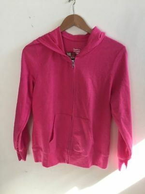 Women's Hoodie-Size M Hanes Soft Sweater Womens Pink Zip Up