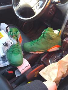 Jordan green suede gatorade 6s