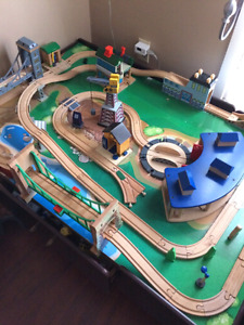 Train table and Thomas train collection