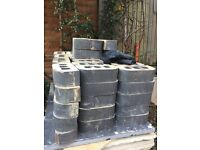 Double round top engineering blue bricks