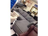 New grey corner sofa suite