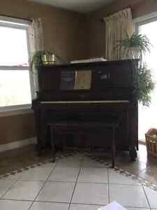 Bell upright piano.