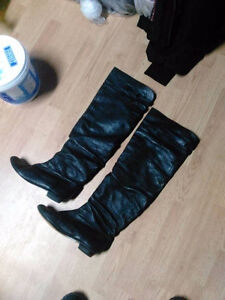 Steve Madden Catepult (over The Knee) Black Boots Size 8.5 These