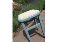2 x upcycled kitchen stools