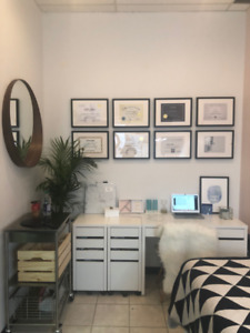 Interior designed Esthetician room for Rent for P/T