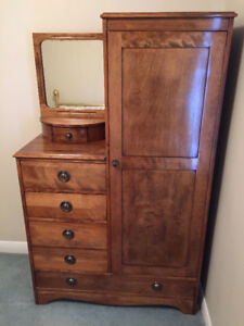 Small Antique Armoire and Drawers