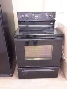 "*** USED *** WHIRLPOOL 30"" BLACK CERAN TOP RANGE   S/N:R50412154   #STORE505"