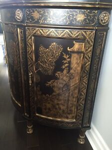 BEAUTIFUL CHINOISERIE BOW FRONT CHEST London Ontario image 3
