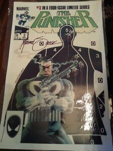 The Punisher #3 poster signed by artist Mike Zeck