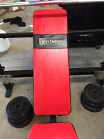 Bench press with leg curl and weights- $250 OBO