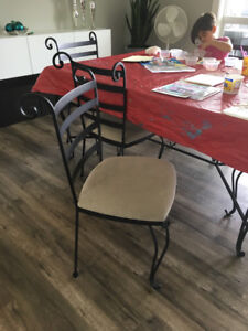 Custom made wrought iron dining chairs