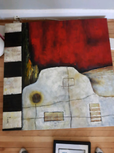 Free large painting on canvas
