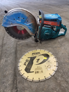 concrete saw (16 inch) with concrete blade
