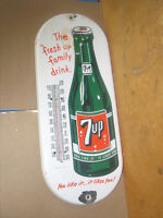 7 UP PORCELAIN THERMOMETER
