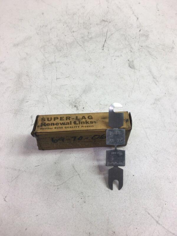 BUSSMANN SUPER-LAG RENEWAL LINKS 250V BOX OF 10 LKN 70