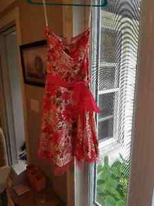 pink flowered summer dress
