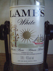 Collectible Lamb's Rum bottle for sale