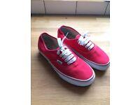 Red Vans Size 6