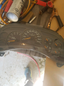 Gm truck chevy guage cluster complete working