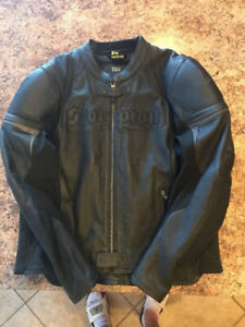 Scorpion Exo Leather Motorcycle Jacket