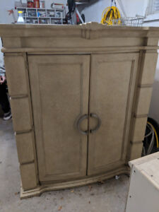 Cream coloured armoire