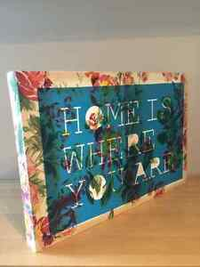"""Urban Outfitters """"Home"""" Quote Canvas Art Print Kingston Kingston Area image 4"""