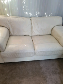 2 seater John Lewis cream leather