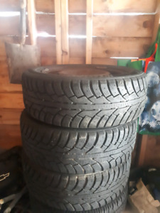 195/65 R15 winter tires on 4x100 steel rims