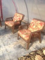 Outdoor love seat and two chairs $400.00