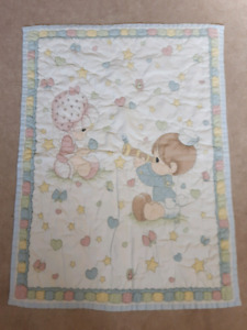 Precious Moments light quilted baby blankets
