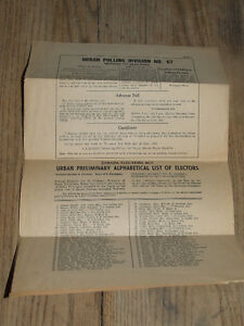 South Poprcupine voters list for 1968 federal election