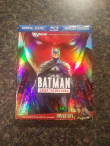 Batman and Hulk animated Blu rays-- with Slipcovers!