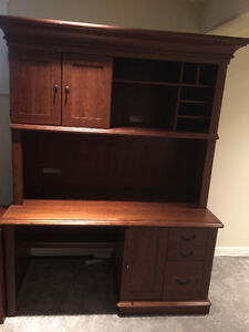 Executive Style Desk with Hutch - Tons of storage!!