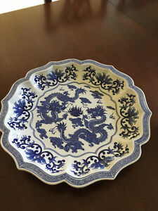 Blue and White Porcelain Plate and Box - Bombay Company