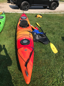 Wilderness Systems Tsunami 145 touring kayak w/accessories