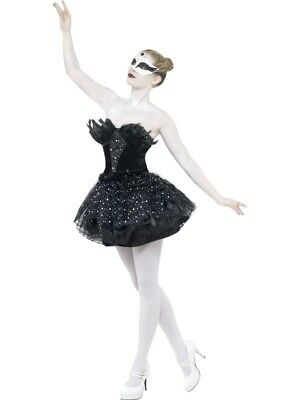 Ballettkleid Schwan mit Tutu und Federn Black Swan Halloween