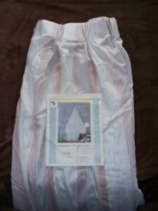Pinch pleat top dusty rose long drapes - never used