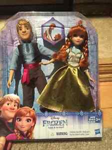 Brand New Frozen Anna and Kristoff Barbies